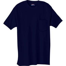 Logo Dark Hanes Beefy-T 100% Cotton Pocketed T-Shirt