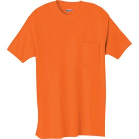 Dark Hanes Beefy-T 100% Cotton Pocketed T-Shirt with Your Slogan