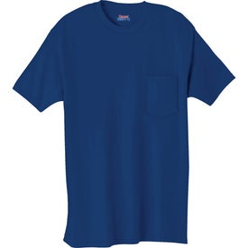 Dark Hanes Beefy-T 100% Cotton Pocketed T-Shirt for your School