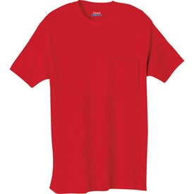 Dark Hanes Beefy-T 100% Cotton Pocketed T-Shirt with Your Logo