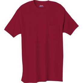 Branded Dark Hanes Beefy-T 100% Cotton Pocketed T-Shirt