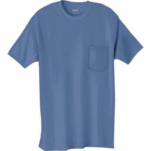 Dark hanes beefy t 100 cotton pocketed t shirt custom for Custom pocket t shirts