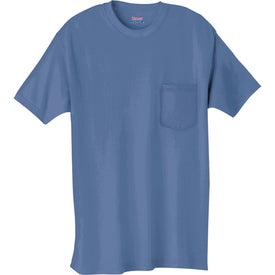Promotional Dark Hanes Beefy-T 100% Cotton Pocketed T-Shirt