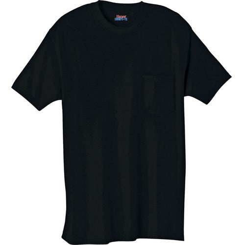 promotional dark hanes beefy t 100 cotton pocketed t