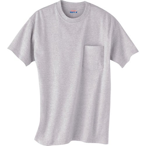 Light hanes beefy t 100 cotton pocketed t shirt custom for Custom t shirt with pocket