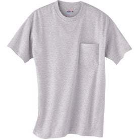 Monogrammed Light Hanes Beefy-T 100% Cotton Pocketed T-Shirt