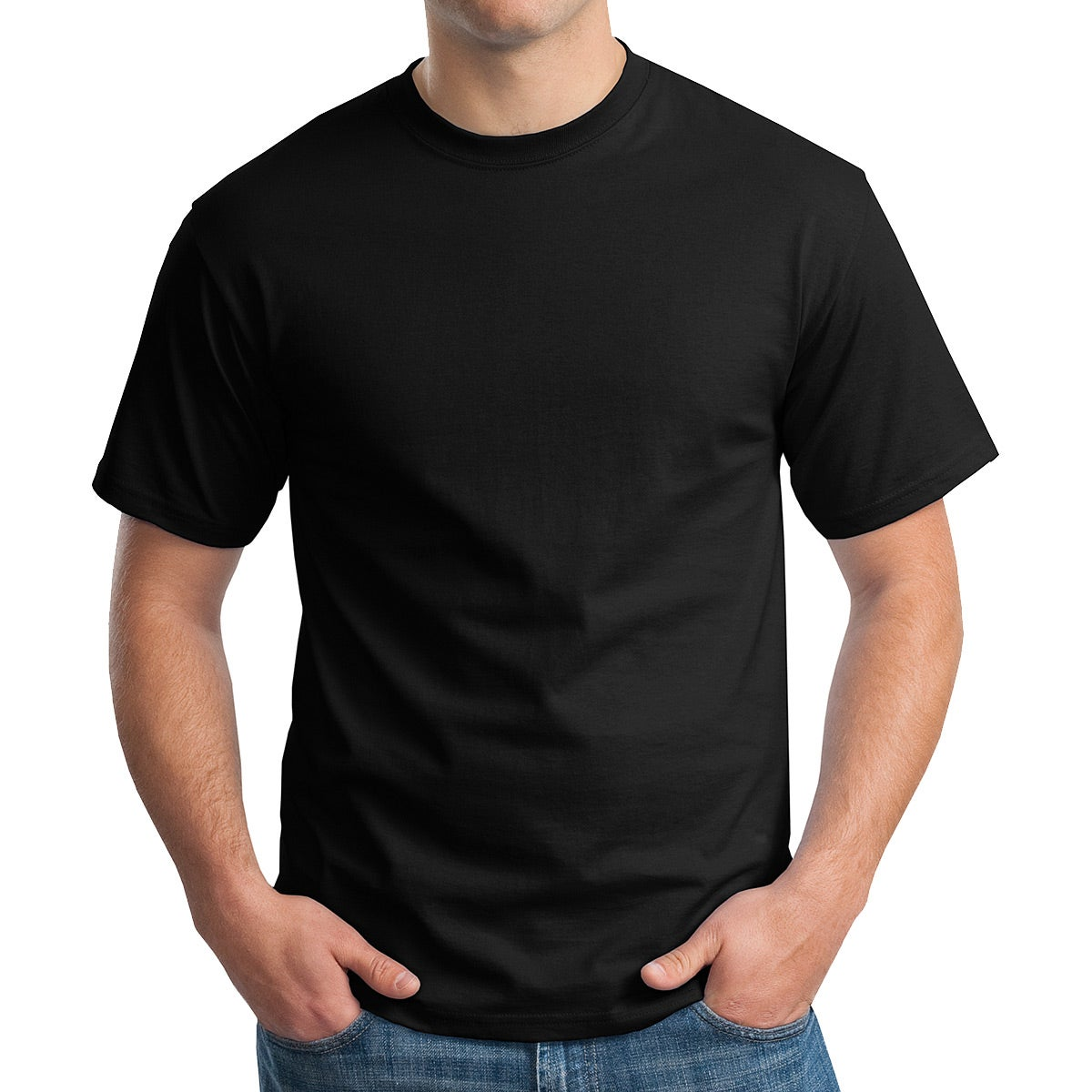 Hanes Tagless 100% Cotton T-Shirt (Colors)