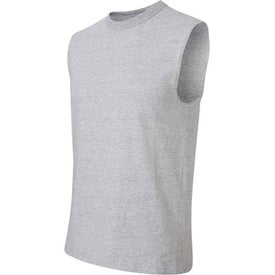 Light Jerzees Sleeveless T-Shirt with Your Slogan