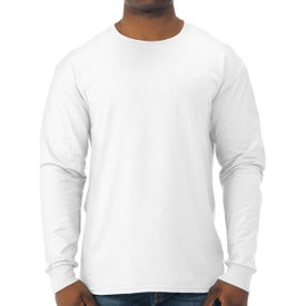 Jerzees Dri-Power Long Sleeve 50/50 T-Shirt (Men's, White)