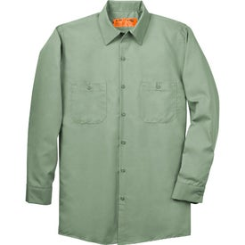 Cornerstone Long Sleeve Industrial Work Shirt Branded with Your Logo