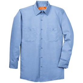 Imprinted Cornerstone Long Sleeve Industrial Work Shirt