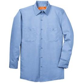 Imprinted Cornerstone Long Sleeve Industrial Work Shirt