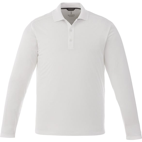 White Mori Long Sleeve Polo Shirt by TRIMARK