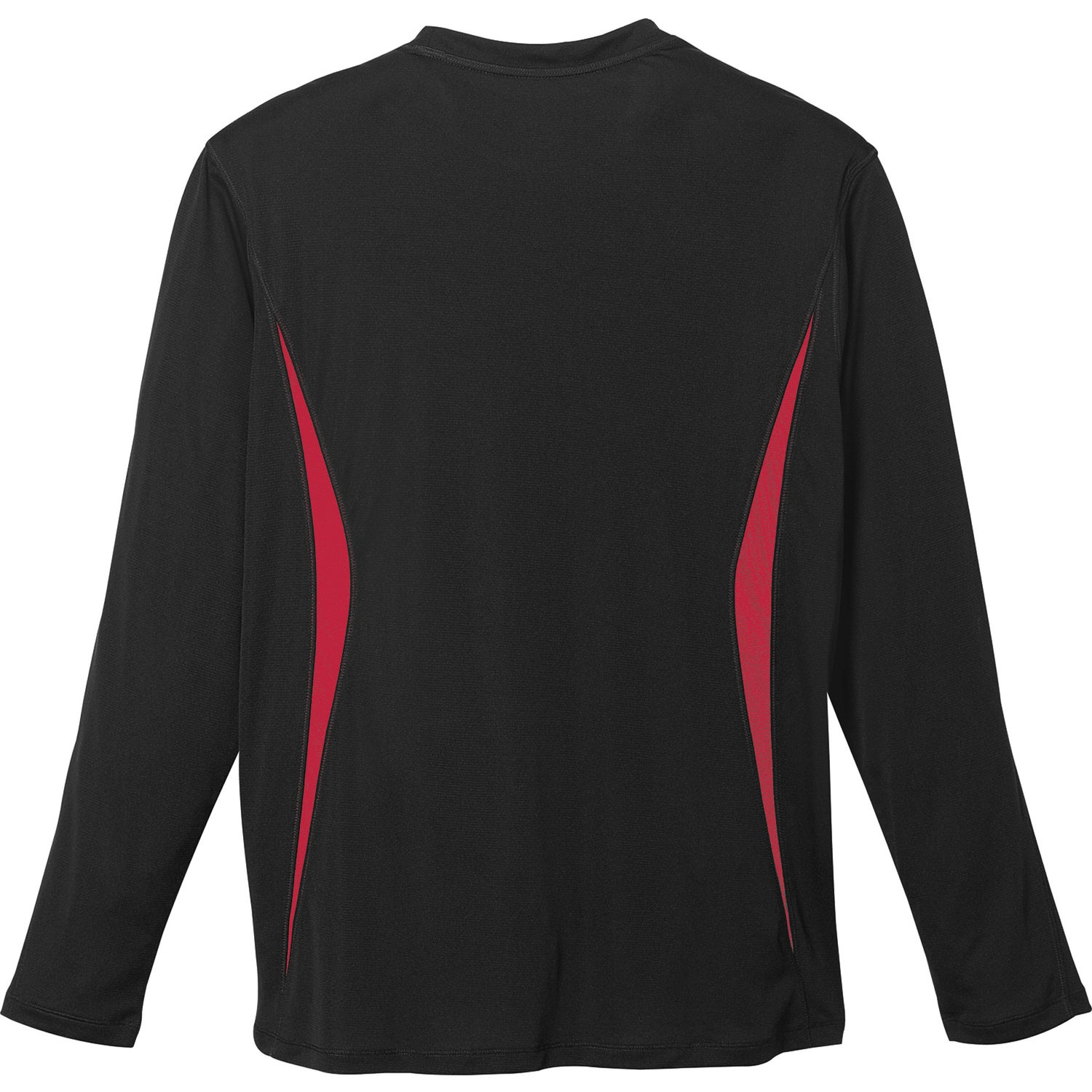 Kemah long sleeve tech tee by trimark men 39 s long for Personalized long sleeve t shirts