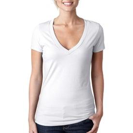 Next Level CVC Deep V T-Shirt (White)