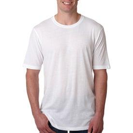 Next Level Men's Poly Cotton Crew T-Shirt (White)