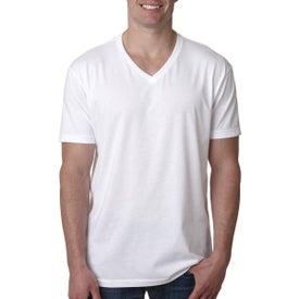 Next Level Men's Premium CVC V T-Shirt (White)