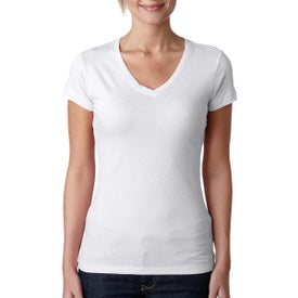 Next Level Perfect Sporty V T-Shirt (White)