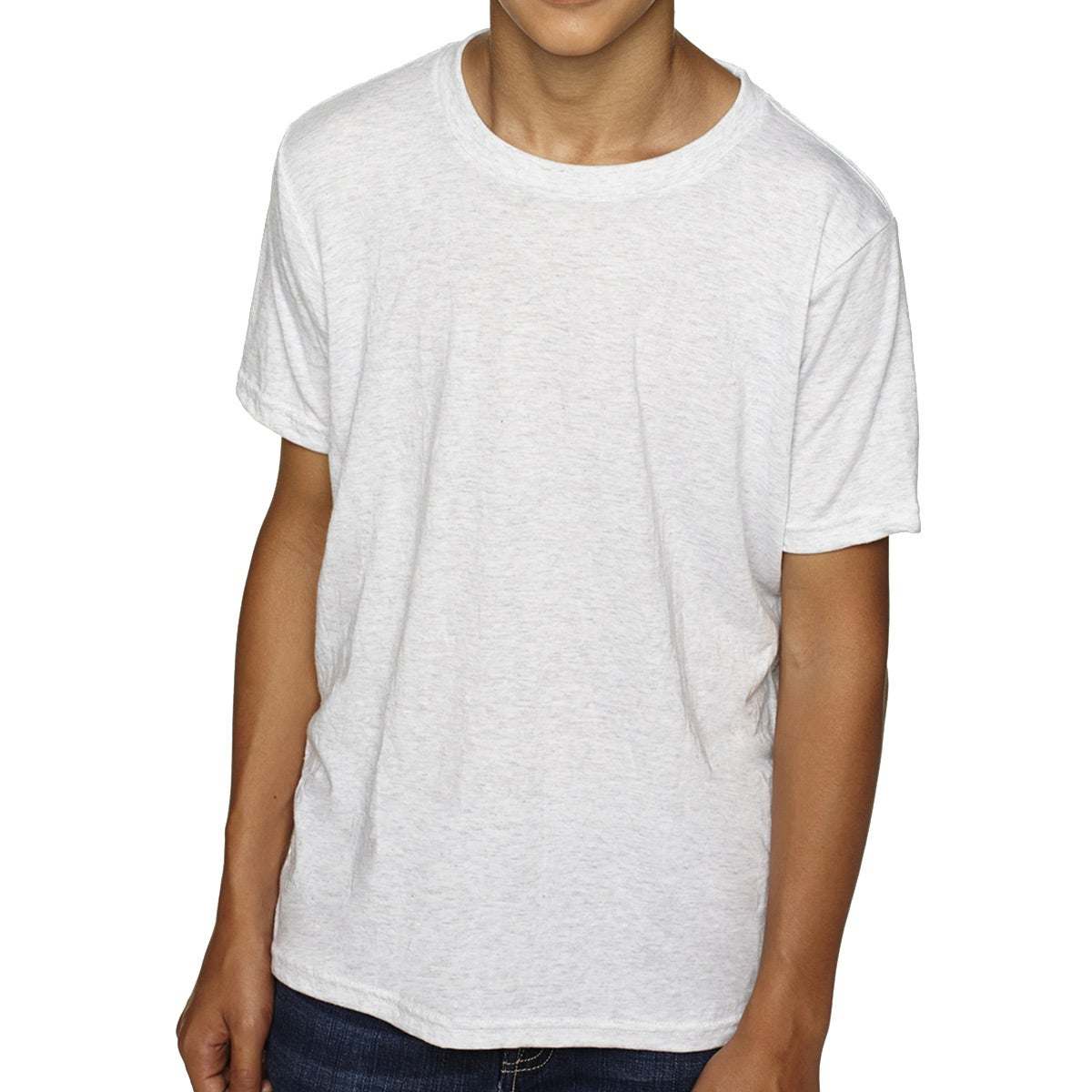 Promotional White Next Level Youth Tri Blend Crew T Shirts With