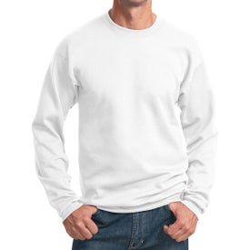 Port and Company Core Fleece Crewneck Sweatshirt (Men's, White)