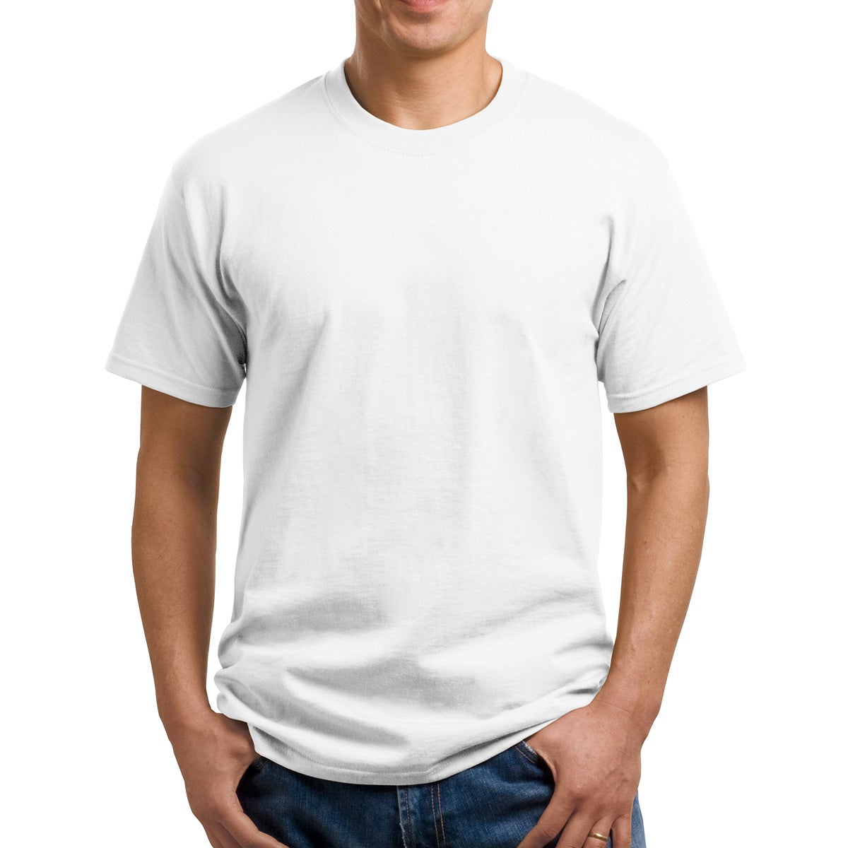 Promotional white port and company cotton t shirts with for Custom t shirt company