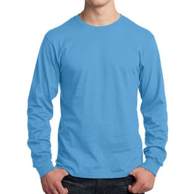 Port and Company Long Sleeve Core Cotton T-Shirt (Men's, Colors)