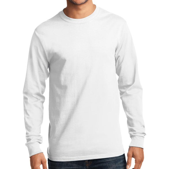 White Port and Company Long Sleeve Essential T-Shirt