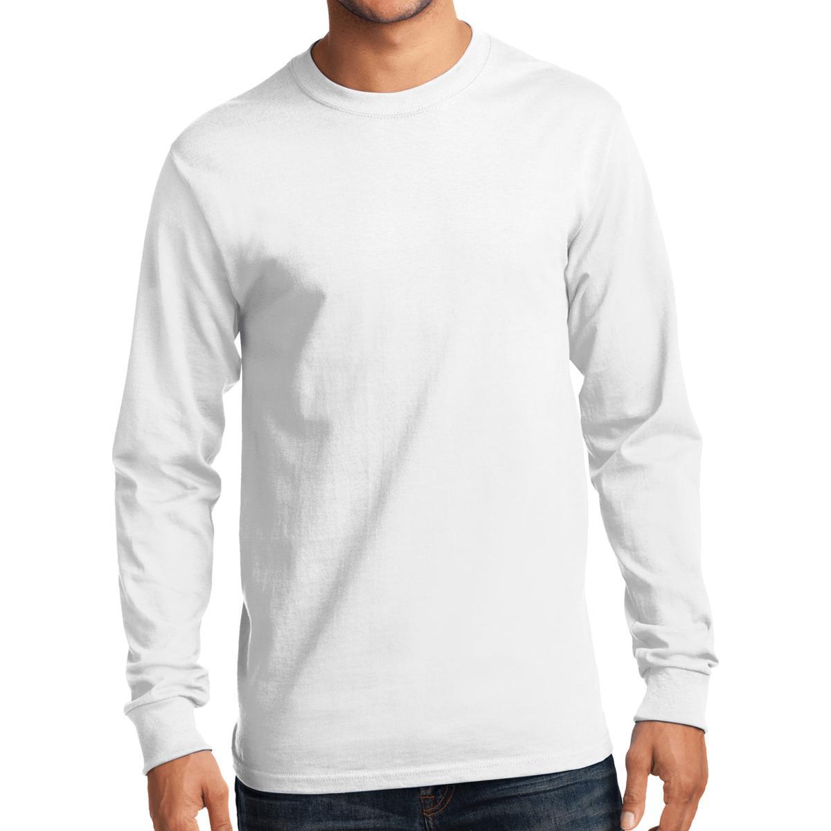 White Port /& Company Long Sleeve Essential T-Shirt