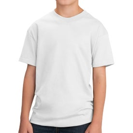 Port & Company Core Cotton T-Shirt (Youth, White)