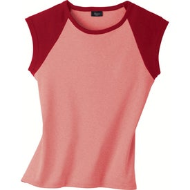 Silver for Her by Hanes Cotton/Spandex Raglan T-shirt Branded with Your Logo