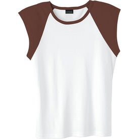 Silver for Her by Hanes Cotton/Spandex Raglan T-shirt for Customization