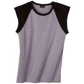 Silver for Her by Hanes Cotton/Spandex Raglan T-shirt Imprinted with Your Logo