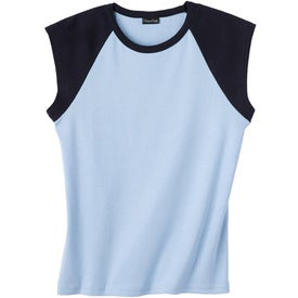 Logo Silver for Her by Hanes Cotton/Spandex Raglan T-shirt