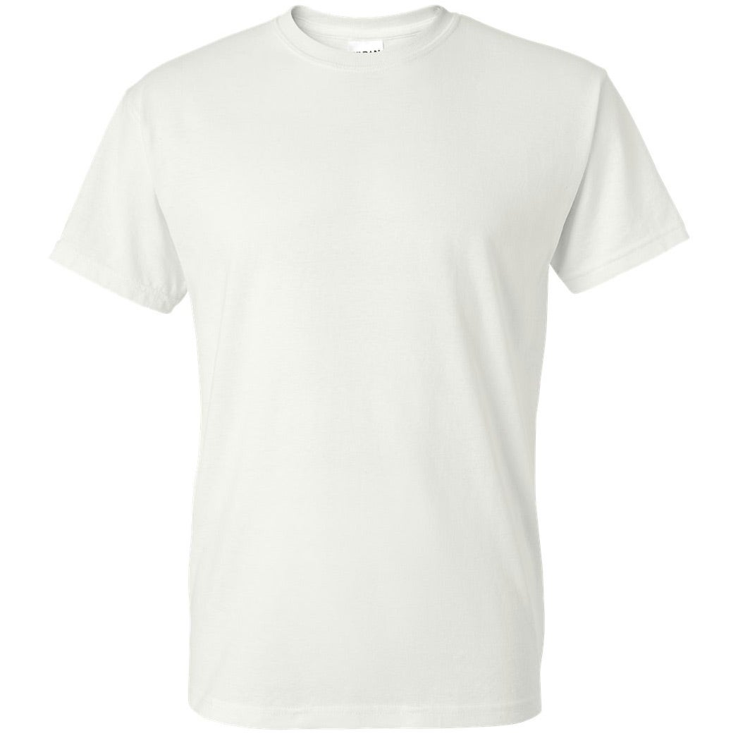 White gildan dryblend 50 50 t shirt 50 50 blend t shirts for Gildan t shirts online