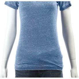 Monogrammed Burnout Jersey Short Sleeve Tee by TRIMARK