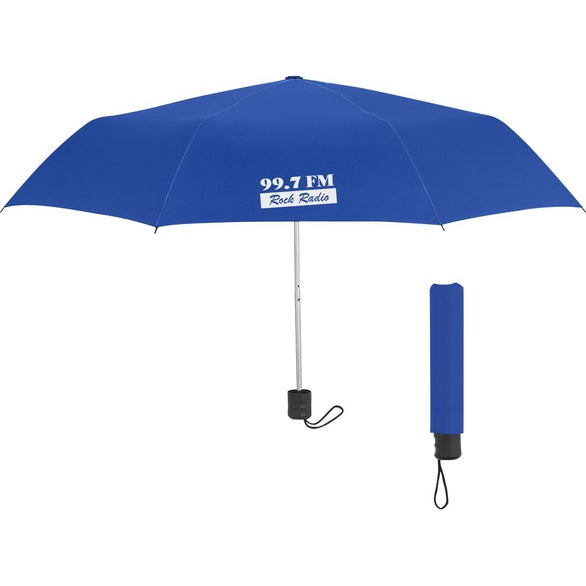 Blue Telescopic Umbrella with RPET Canopy