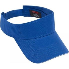 Brushed Superior Cotton Twill Sandwich Visor