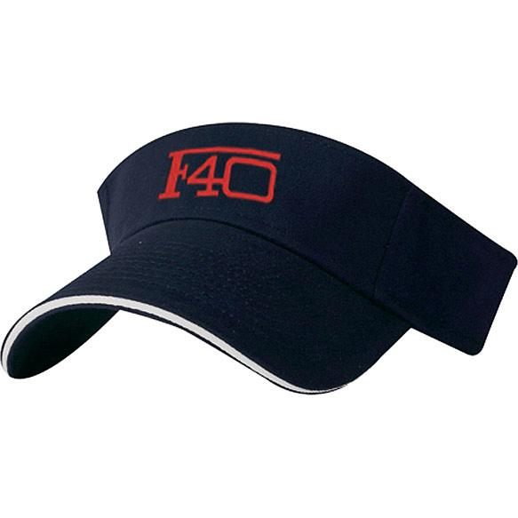 Navy / White Brushed Cotton Twill Sandwich Visor