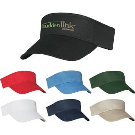 Cotton Twill Visors (Unisex, Screen Print)