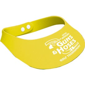Crushable Foam Visor with Your Slogan