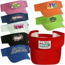 promotional econo visor caps with custom logo for 120 ea