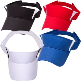 Pro-Style Cotton Twill Visor Branded with Your Logo
