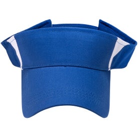 Pro-Style Cotton Twill Visor Imprinted with Your Logo