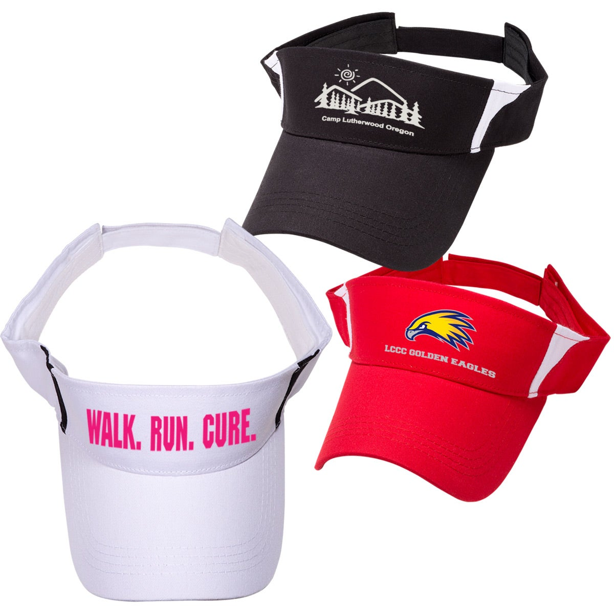 Pro style cotton twill visor for your organization