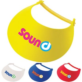 """Sun"" Visor with Your Slogan"