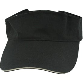 Customized Visor with Sandwich Accent