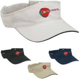 Visor with Sandwich Accent
