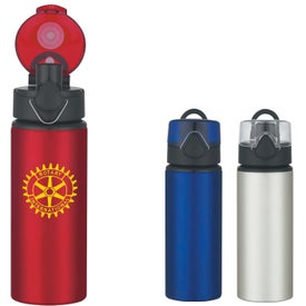 Aluminum Sports Bottle With Flip Top Lid (25 Oz.)