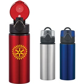 Aluminum Sports Bottle With Flip Top Lid