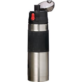 Imprinted Easy Hold Vacuum Stainless Steel Water Bottle